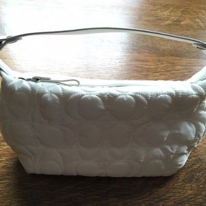 "White ""Quilted"" Coach Purse"